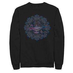 Juniors' Disney's Aladdin Genie Lamp Geometric Poster Fleece Sweater