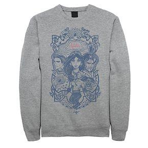 Juniors' Disney's Aladdin Vintage Artsy Group Poster Fleece Sweater