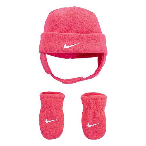 Baby Nike Polar Fleece Chin Strap Hat & Mittens 2-Piece Set