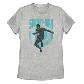 Juniors' Marvel Spider-Man Far From Home Stealth Suit Action Tee Shirt