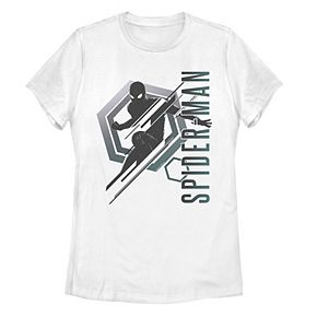 Juniors' Marvel Spider-Man Far From Home Stealth Spidey Tee Shirt