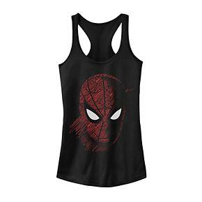 Juniors' Marvel Spider-Man Far From Home Tech Portrait Tank Top