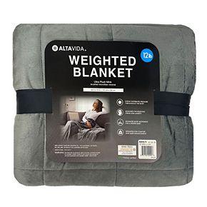 Altavida 12-lb. Faux Mink to Microfiber Weighted Blanket