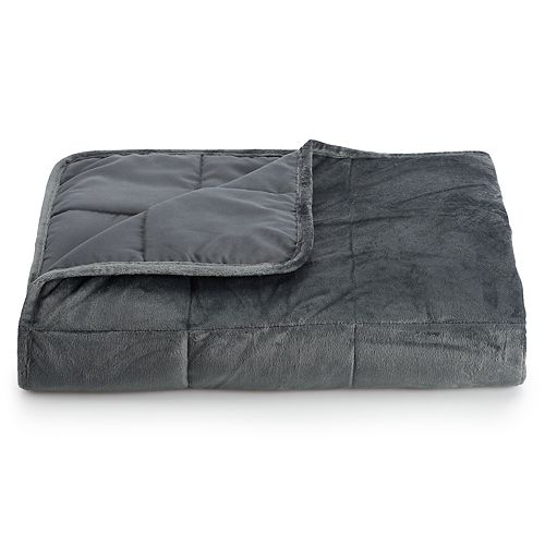 Altavida 12-lb. Faux Mink to Microfiber Weighted Blanket