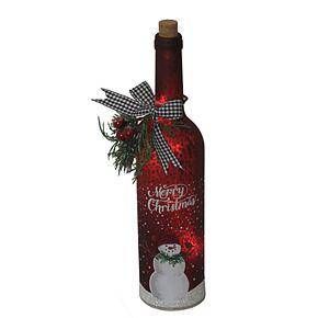 St. Nicholas Square® LED Snowman Wine Bottle Figurine