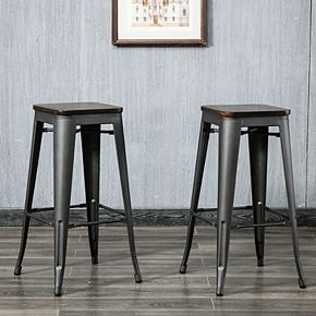 Cormac 30 In. Square Seat Stool 2-Piece
