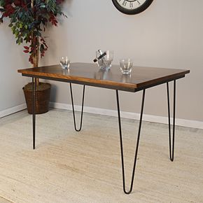 Griffith Dining Table With Bent Iron Legs