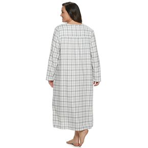 Plus Size Croft & Barrow® Printed Flannel Nightgown