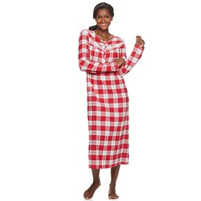 Petite Croft & Barrow® Printed Flannel Nightgown