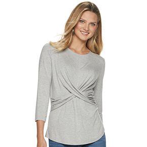 Women's Juicy Couture 3/4 Sleeve Cross Front Top