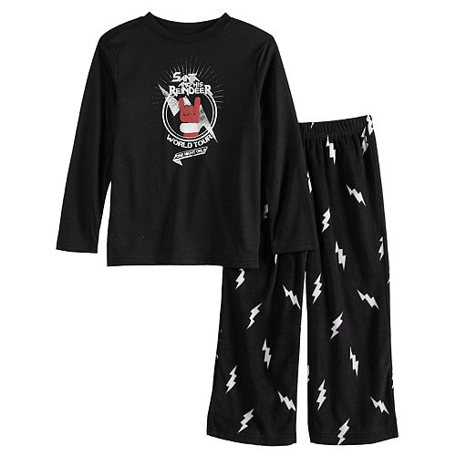 Boys 4-20 Jammies For Your Families Santa's World Tour Top & Bottoms Pajama Set