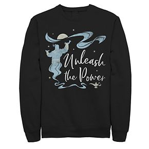 Juniors' Disney's Aladdin Genie Unleash The Power Fleece Sweater