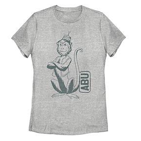 Juniors' Disney's Aladdin Abu Side Kick Tee Shirt