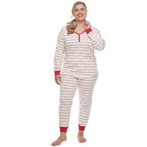 Plus Size LC Lauren Conrad Jammies For Your Families Fa La La Top & Bottoms Pajama Set
