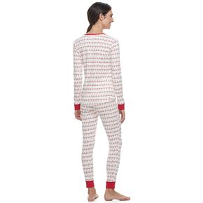 Women's LC Lauren Conrad Jammies For Your Families Fa La La Top & Bottoms Pajama Set