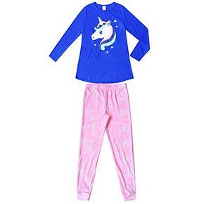 Girls 4-16 Jellifish 2-Piece Pajama Set
