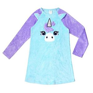 Girls 4-16 Jellifish Critter Face Sleep Gown