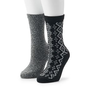 Women's Columbia 2 Pack Snowflake Crew Socks