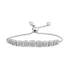 Gold Over Sterling Silver 1/10 Carat T.W. Diamond Bolo Bracelet