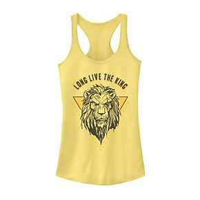 "Juniors' Disney's The Lion King Scar Sketched ""Long Live The King"" Tank Top"