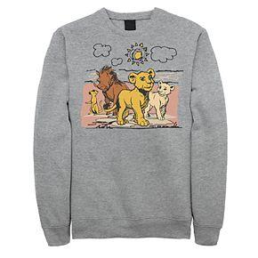 Juniors' Disney's The Lion King Hakuna Matata Happy Group Fleece Sweater