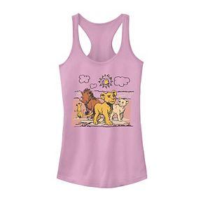 Juniors' Disney's The Lion King Hakuna Matata Happy Group Tank Top