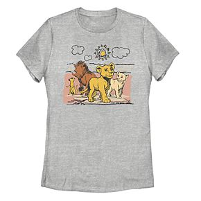 Juniors' Disney's The Lion King Hakuna Matata Happy Group Tee Shirt