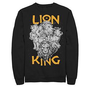 Juniors' Disney's The Lion King Group Stack Photo Fleece Sweater
