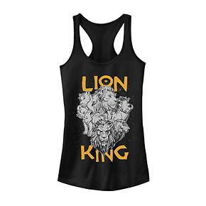 Juniors' Disney's The Lion King Group Stack Photo Tank Top