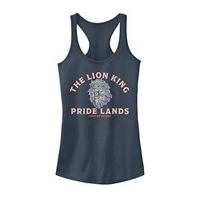 Juniors' Disney's The Lion King Pride Lands Logo Tank Top
