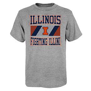 """Boy's 4-20 NCAA Illinois Fighting Illini """"College Team Pride"""" Short Sleeve Tee"""