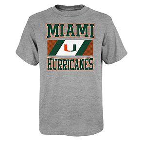 "Boy's 4-20 NCAA Miami Hurricanes ""College Team Pride"" Short Sleeve Tee"