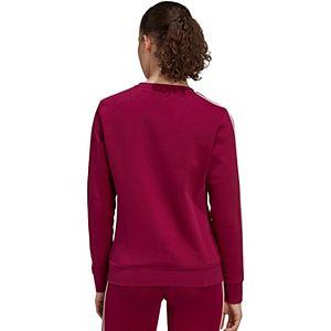 Women's adidas 3 Stripe Fleece Crewneck Sweatshirt