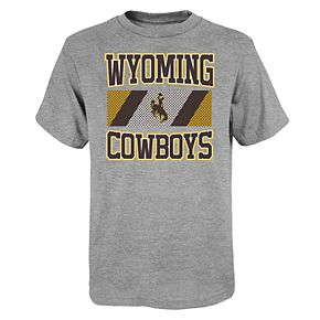 """Boy's 4-20 NCAA Wyoming Cowboys """"College Team Pride"""" Short Sleeve Tee"""