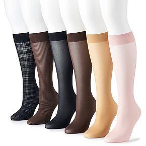 Women's Apt. 9® Plaid Assortment Trouser Pack (6-Pair)