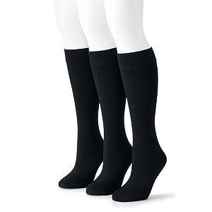Women's Apt. 9® Fleece Lined Trouser Socks (3-Pack)