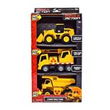Maxx Action Dig Mini Construction Vehicles 3-Pack