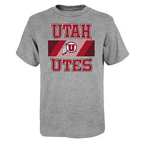 """Boy's 4-20 NCAA Utah Utes """"College Team Pride"""" Short Sleeve Tee"""