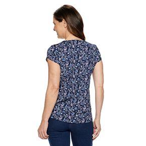 Women's Croft & Barrow® Pleated Cap Sleeve Top