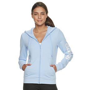 Juniors' Adidas Linear Taping Logo Full Zip Sweatshirt