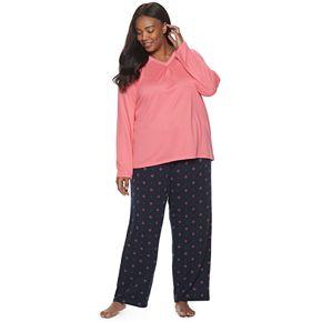 Plus Size Croft & Barrow® Pajama Tee & Pajama Pants Set