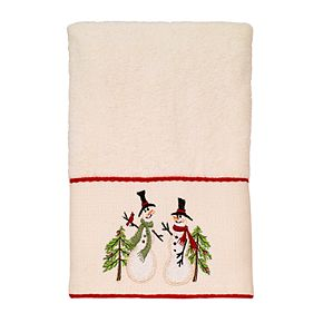 Avanti Tall Snowman Embroidered Cuff Hand Towel
