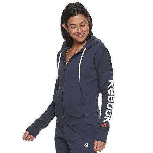 Women's Reebok Linear Logo Full Zip Hoodie