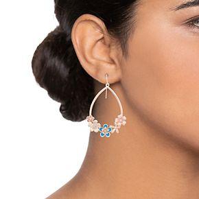 LC Lauren Conrad Flower Nickel Free Teardrop Earrings