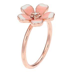 LC Lauren Conrad Pink & White Flower Ring
