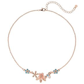 LC Lauren Conrad Colorful Flowers Statement Necklace
