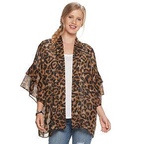 Women's SO® Ruffle Sleeve Kimono
