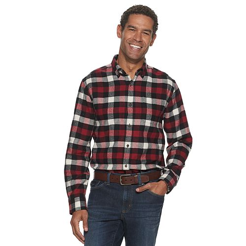 Men's Croft & Barrow® Extra-Soft Slim-Fit Flannel Button-Down Shirt