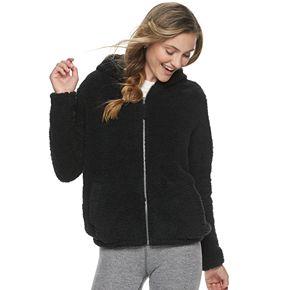 Juniors' SO® Sherpa Full Zip Jacket