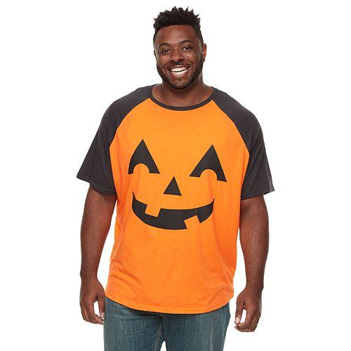 Big & Tall Family Fun™ Halloween Jack-o'-lantern Graphic Tee
